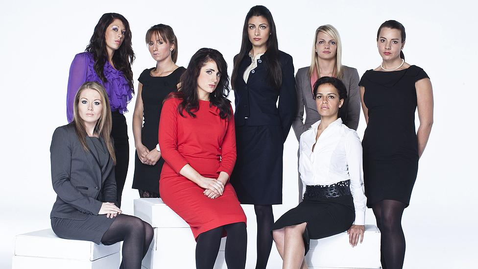 (l-r) Laura Hogg, Maria O'Connor, Jenna Whittingham, Jane McEvoy, Bilyana Apostolova, Gabrielle Omar, Katie Wright, Jade Nash