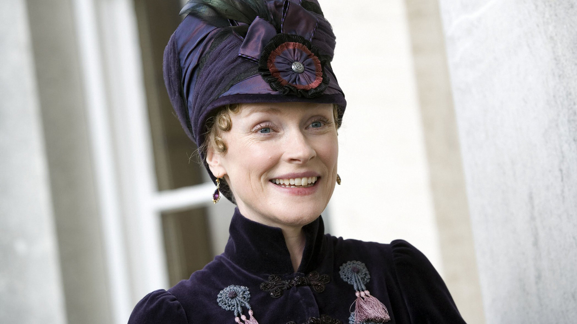 Claire Skinner in her costume f...