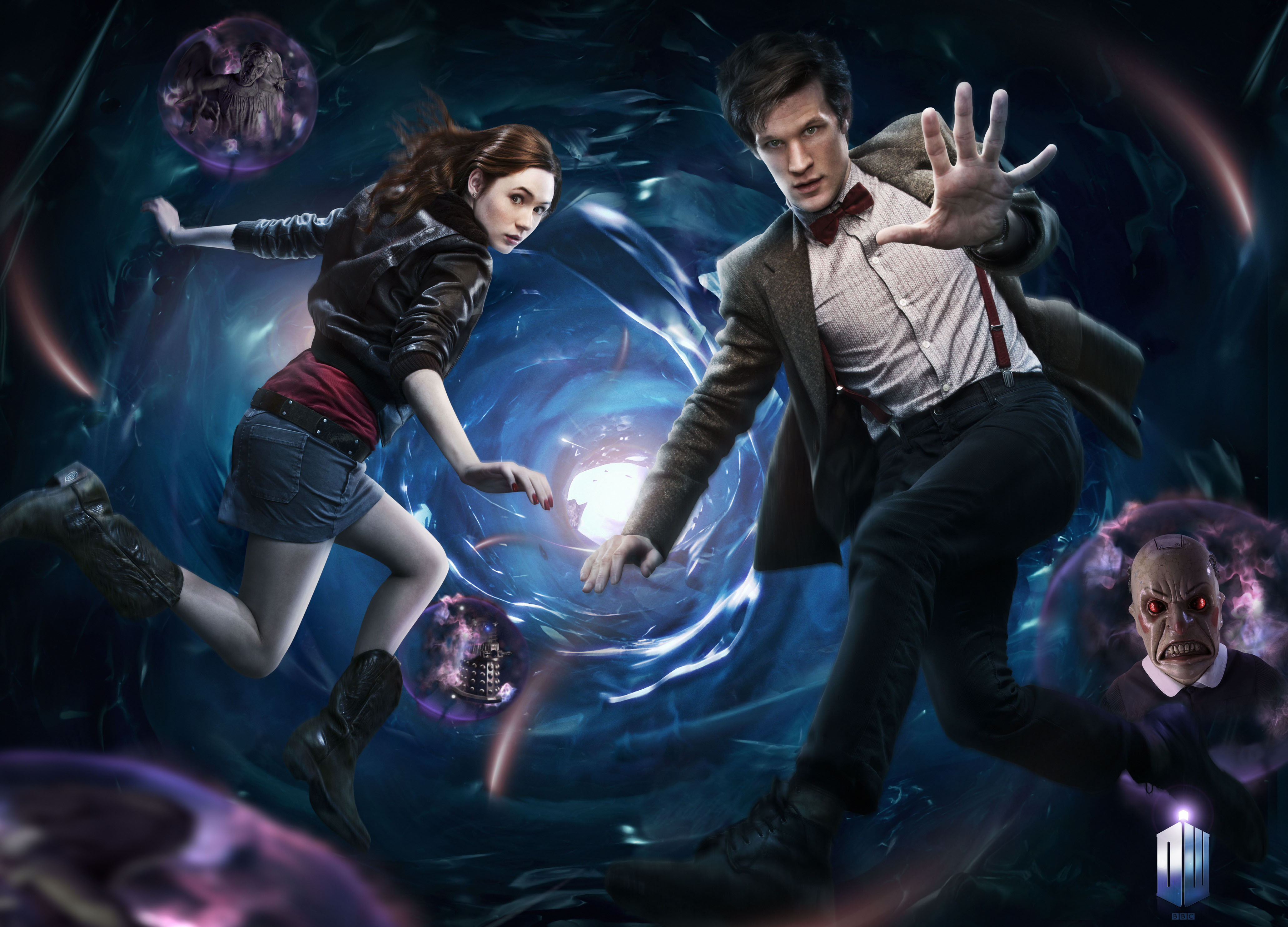 The Eleventh Doctor & Amy Pond.  Image copyright BBC.