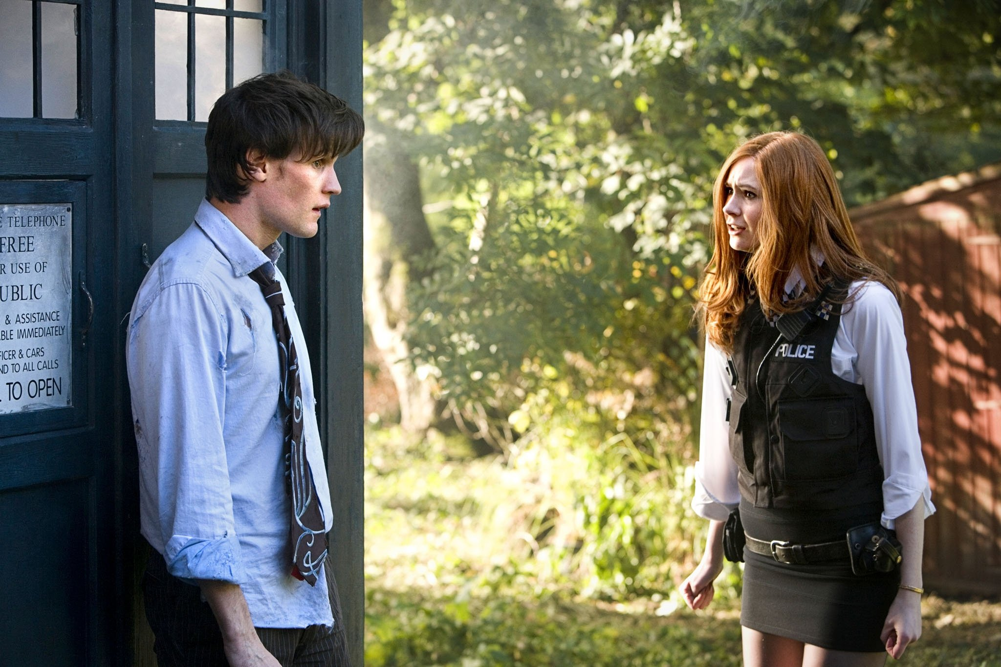 The Doctor, Amy Pond and the TARDIS