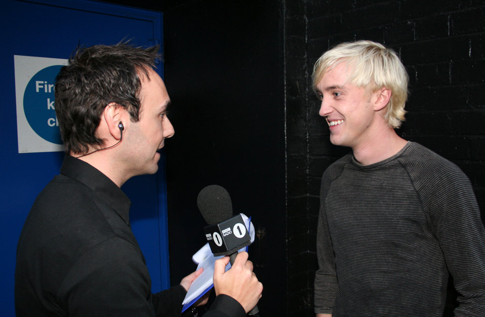 Aled interviews Tom Felton backstage