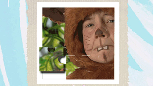 Child in bear suit jigsaw puzzle