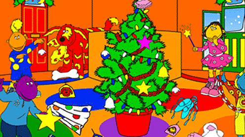 Christmas tree and Tweenies