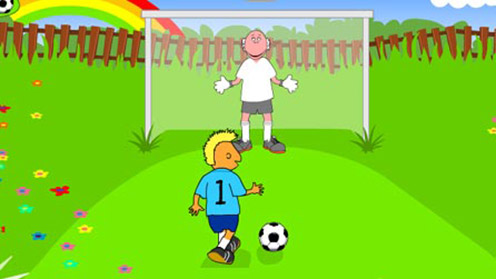 Tweenies playing football