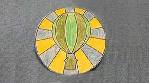 Green Balloon Club Badge