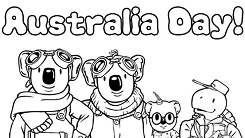 Australia Day card - Koala Brothers