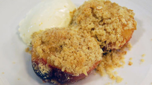I Can Cook - Baked Crumble Nectarines