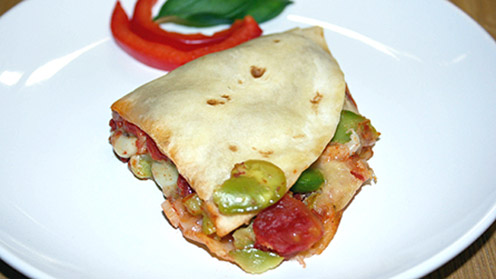 Spicy baked wrap