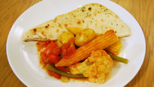 Vegetable bhuna with vegetables