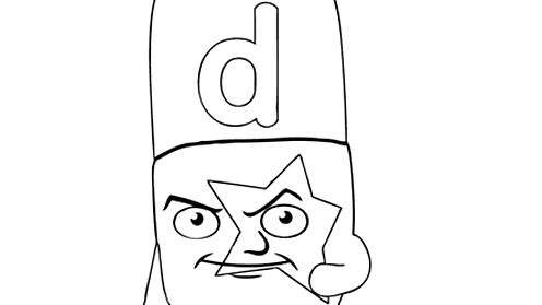 Alphablocks letter D
