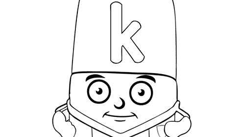 Alphablocks letter K
