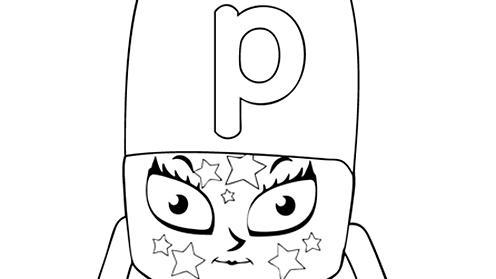 Alphablocks - letter p