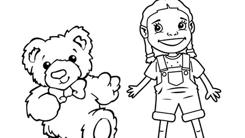 Barnaby Bear and Becky