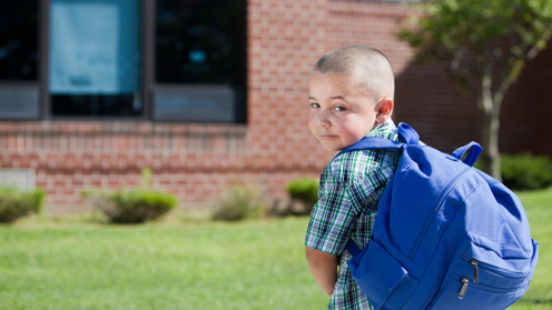 Boy with rucksack