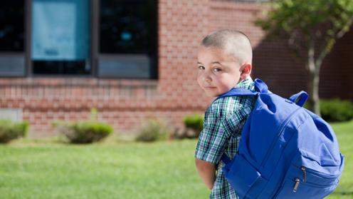 Boy with rucksack