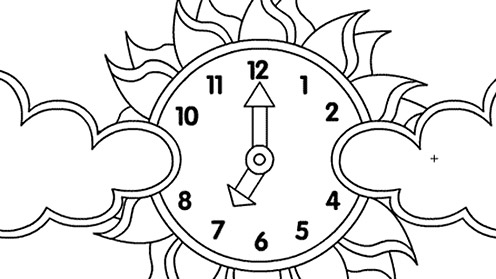 Tikkabilla Clock Print -Out