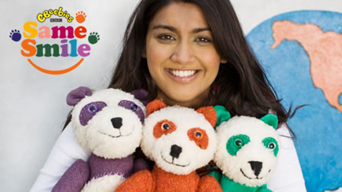 Nisha and the pandas