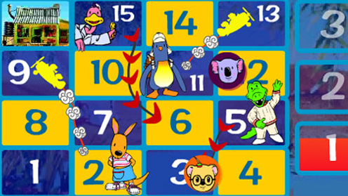 Koala brothers and numbers board