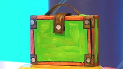 Cardboard box suitcase
