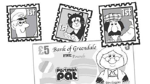 Postman Pat stamps