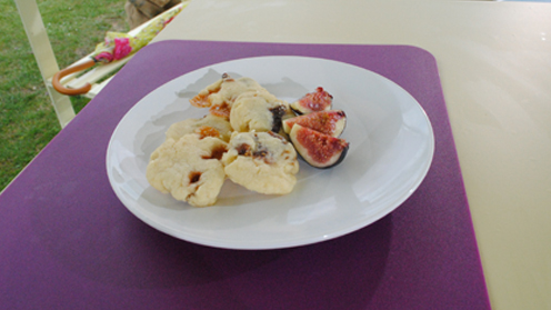 Fig and Fudge Biscuits on a table