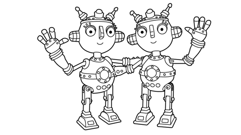 Little Robots prints