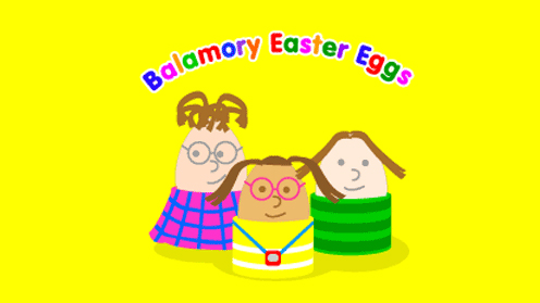 Balamory Easter Eggs