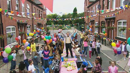 Street Party scene