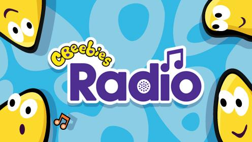 CBeebies bug and the radio logo