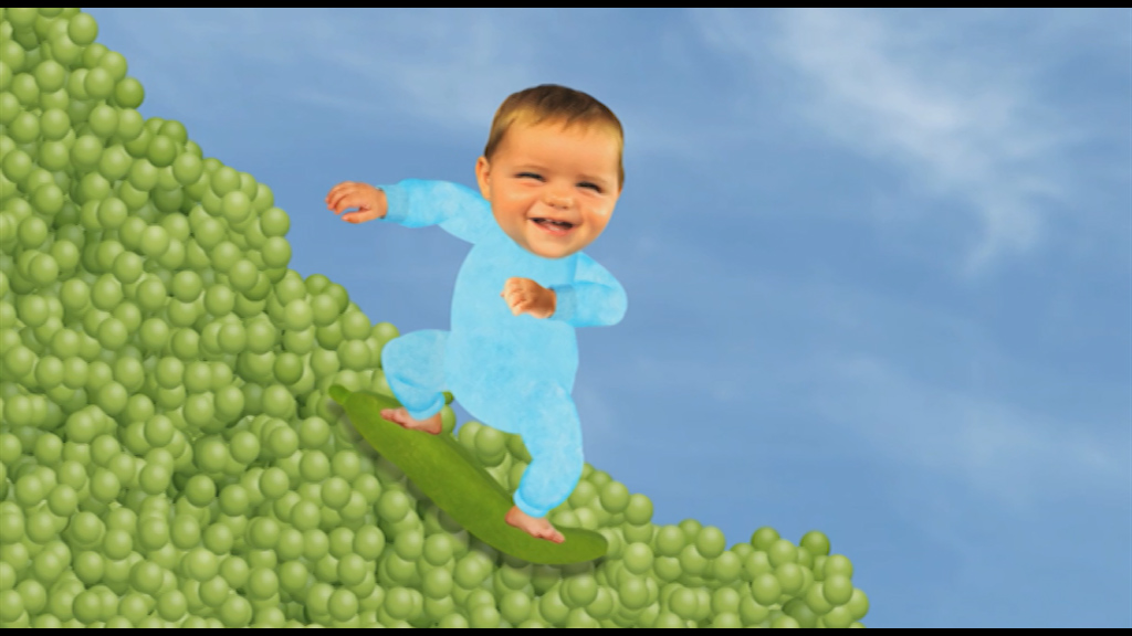 Baby Jake Pea Surfing