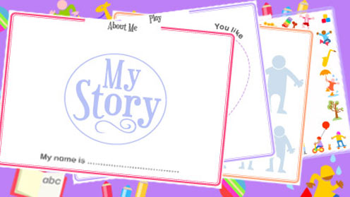 My Story book pages