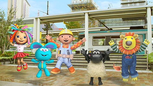 CBeebies friends jumping up