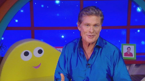 David Hasselhoff in the CBeebies House