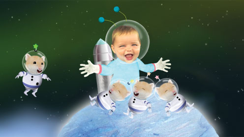 Baby Jake in space