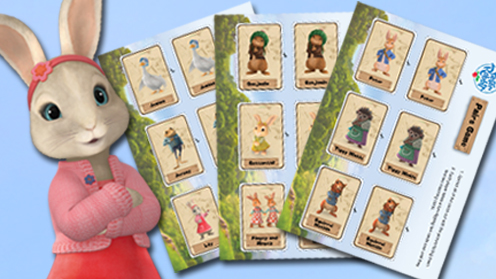 Peter Rabbit Print and Play Pairs Game
