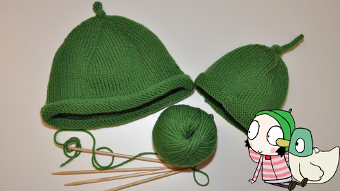 Sarah and Duck Hat Knitting Pattern