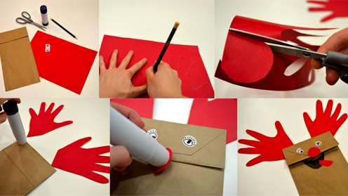 Make a Red-nosed Reindeer Puppet