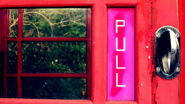 Image of telephone box door