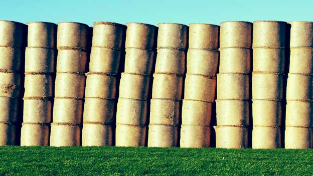 Image of bales stacked up