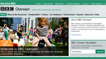 Screenshot of the BBC Outreach homepage