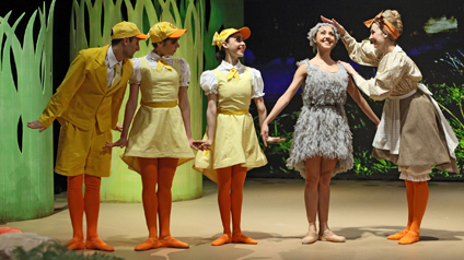 Dancers performing in the Ugly Duckling for CBeebies