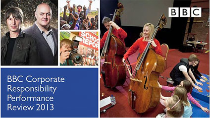 Cover of the BBC Corporate Responsibility Performance Review 2013